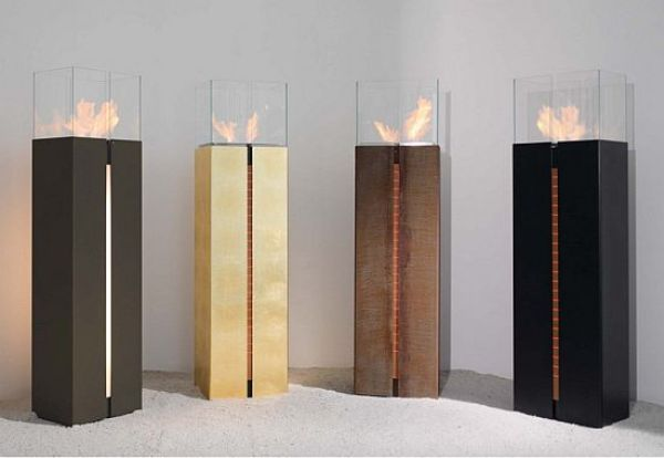 Gold Bio-Ethanol Fireplace
