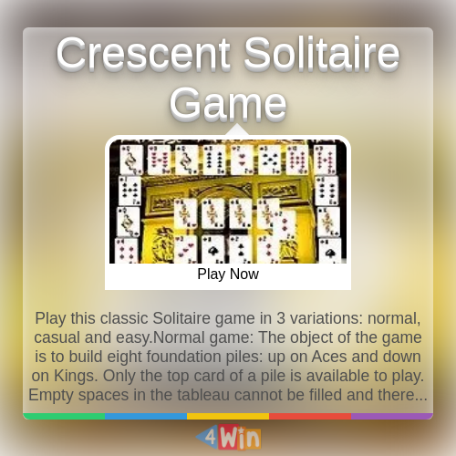 Crescent Solitaire Game Game Free Online Games in 2020