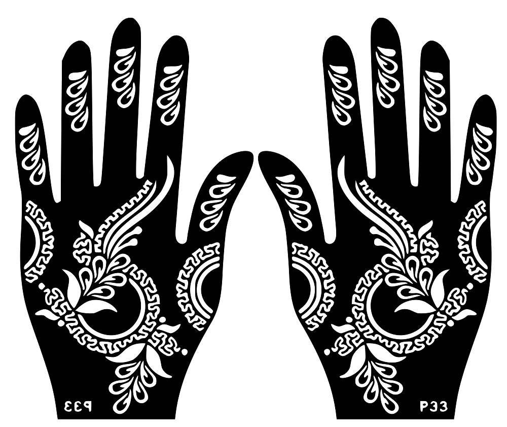 b8d73bd5b Variety Hand Henna Temporary Tattoo Glitter #Stencil #Sticker Body Art  Airbrush Decal Template Mehndi by VinylCre8iveDesigns on Etsy