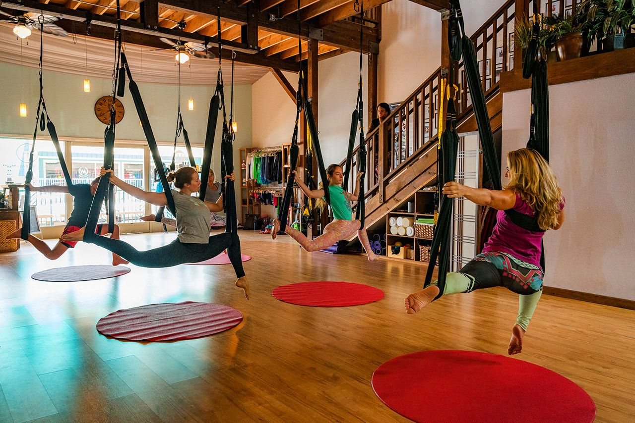 Maui aerial retreat for aerial students at any level