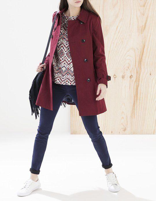 trench coat vestes femme stradivarius france lookbook pinterest veste femme vestes. Black Bedroom Furniture Sets. Home Design Ideas