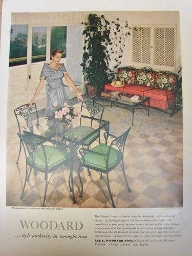 Woodard Orleans 1950 Ad Vintage Wrought Iron Patio