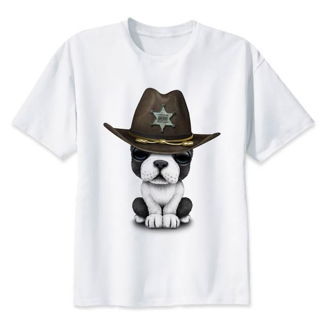 funny t shirts animal dog pug cat t-shirt men short top tees men funny Bulldog male tees #funnybulldog