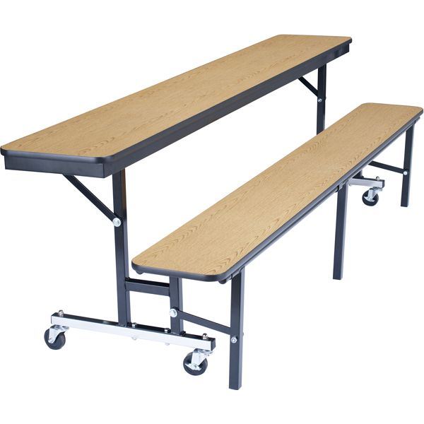 Mobile Convertible Bench Table 6 L Cafeteria Table Public Seating Seating
