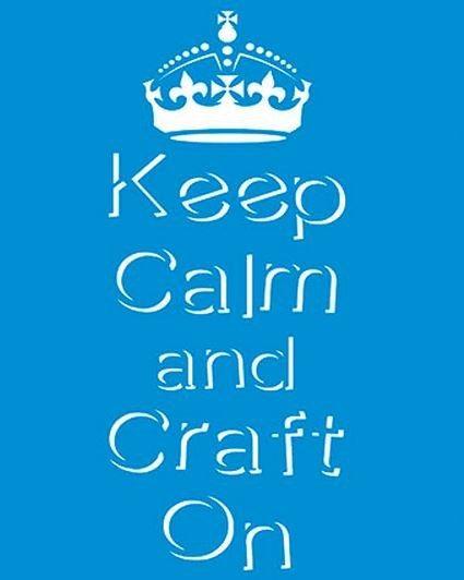 Stencil Keep Calm 17 x 21cm - STM 253 Litoarte - Stencil 17 x 21cm - Stencil ou molde vazado - Empório Janial