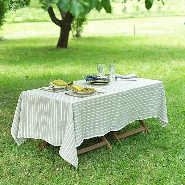 Tablecloth Natural Linen Brittany Table Cloth Natural Linen Tablecloth Entertaining Decor