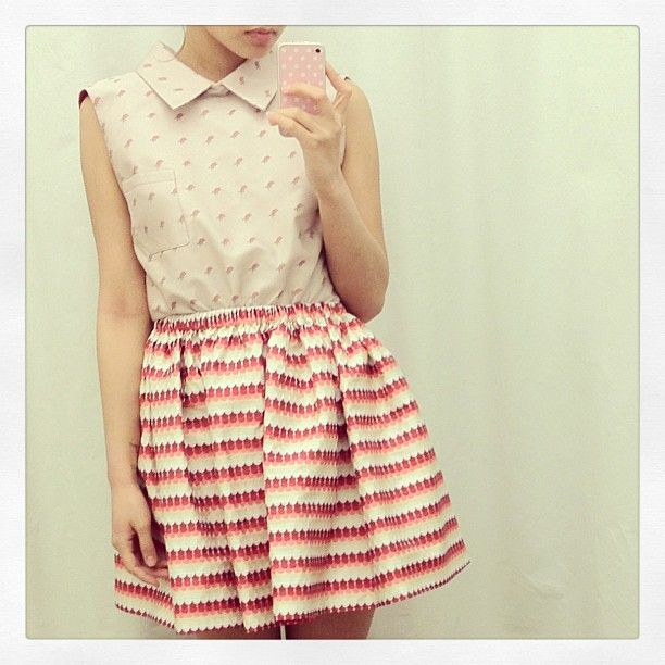 #top and #skirt #aujourlejour (at Rehabshop)