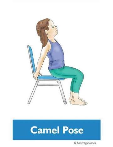 chair yoga poses for kids cards  chair pose yoga yoga
