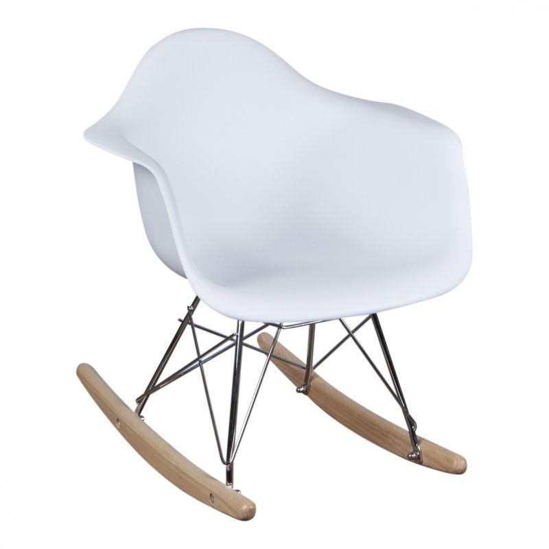 Schommelstoel voor kinderen Eames Junior Wit Eames