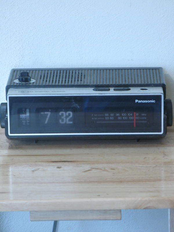 Vintage Panasonic Rc 6002 Flip Clock Radio Alarm Clock Radio Alarm Clock Flip Alarm Clock Vintage Radio