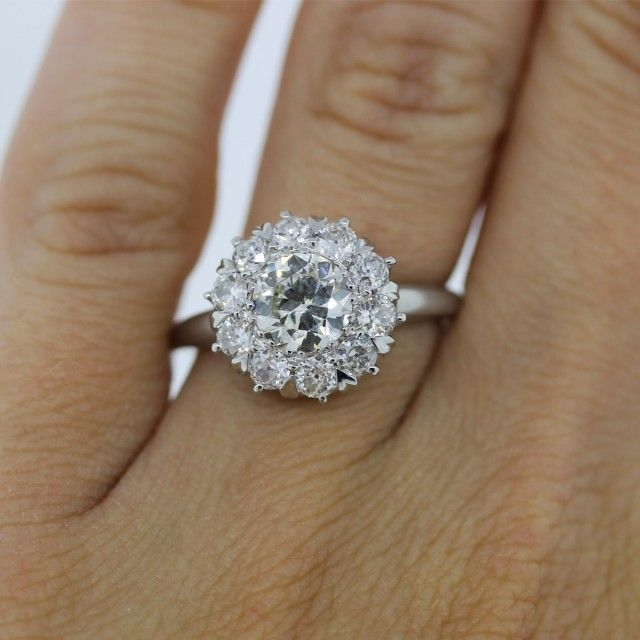 floral engagement rings engagement and cluster