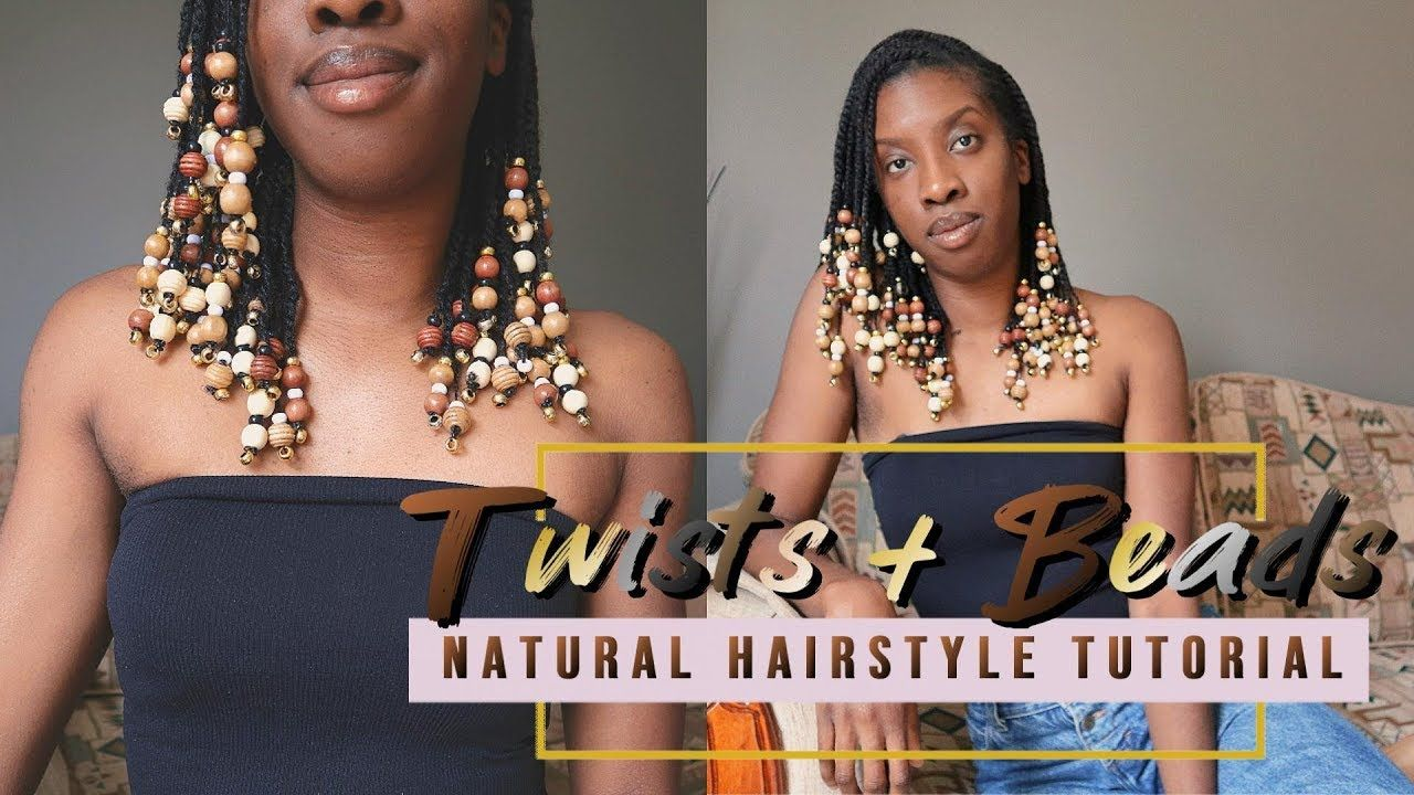 How To Mini Twists And Beads Natural Hairstyle In Depth Tutorial Natural Hair Styles Quick Natural Hair Styles Natural Hair Styles Easy