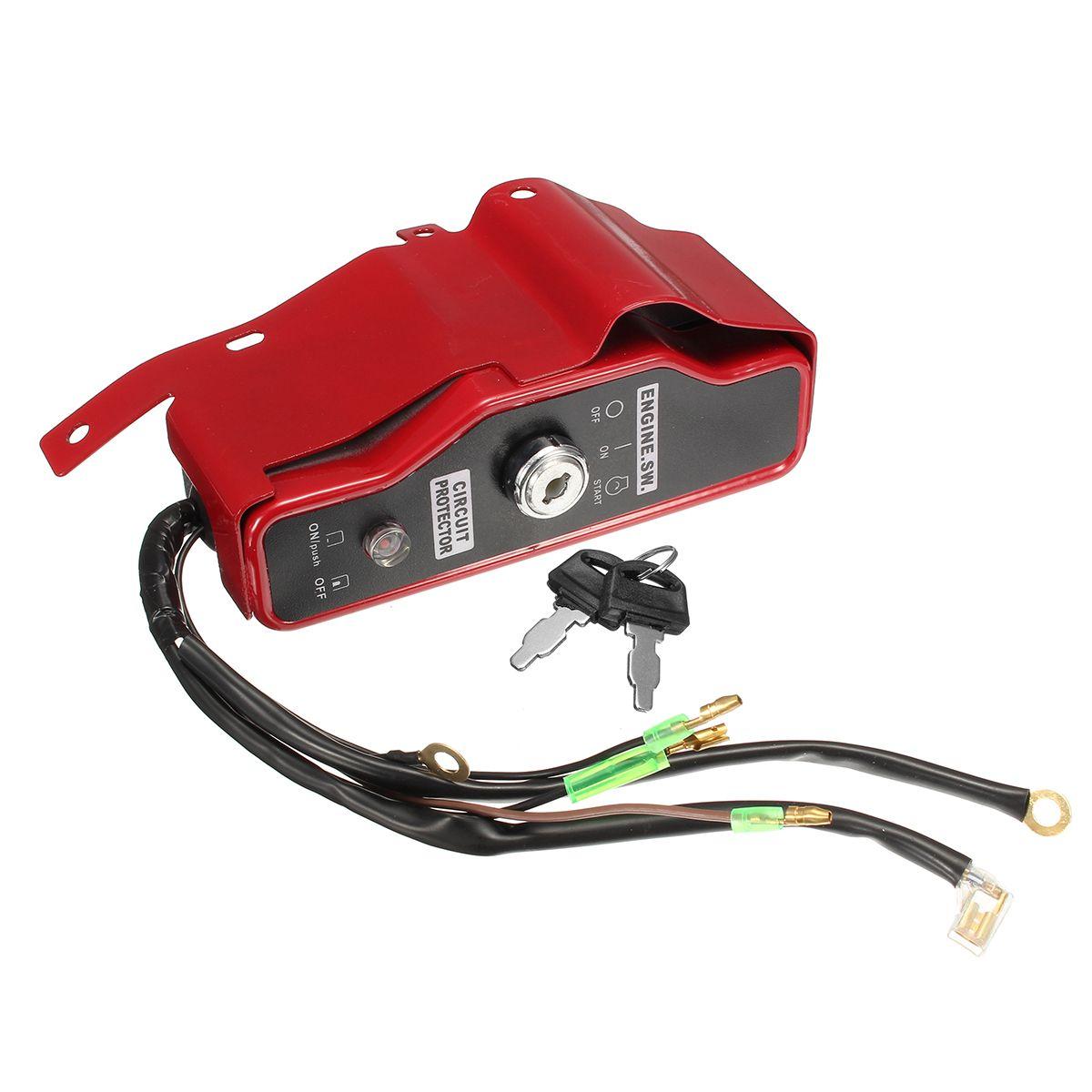 Ignition Switch Key Panel Electric Start For Honda Gx340 Gx390 11hp 13hp Engine Honda Ignite Electrical Equipment