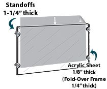 36 X 12 Panoramic Frame For Wall Mount With Standoff Hardware And Magnets Clear Poster Frames