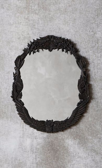 Handcarved Menagerie Mirror