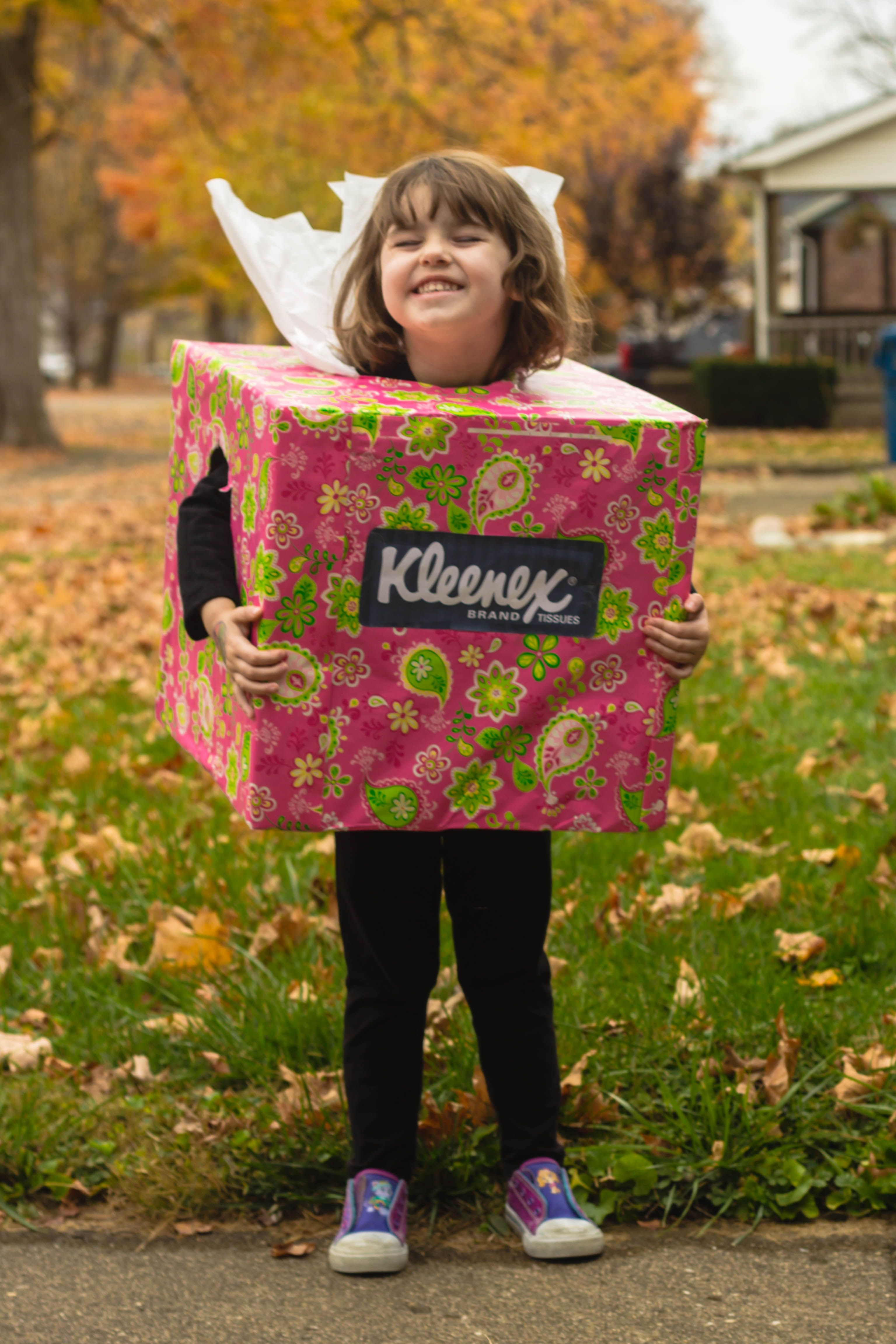 Halloween costume Kleenex box Billie Jean Photography Danville IL | Box costumes, Dyi costume, Halloween costumes