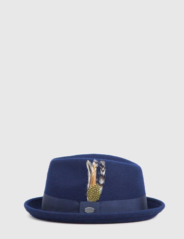 abba6c5fa6c23 Bailey Cloyd Trilby Hat in Navy Blue | cool shades n hats. | Trilby ...