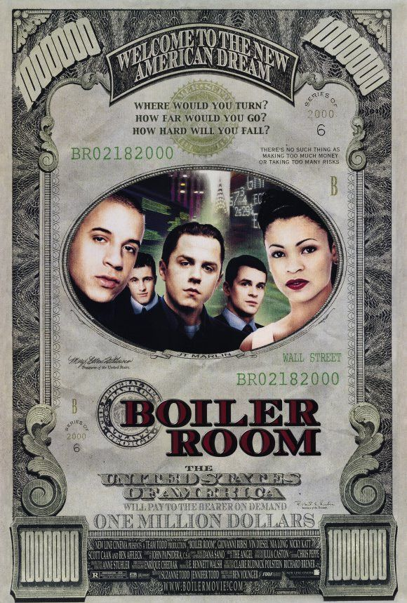 Boiler Room 27x40 Movie Poster 2000 Boiler Room Film Movies Online Vin Diesel
