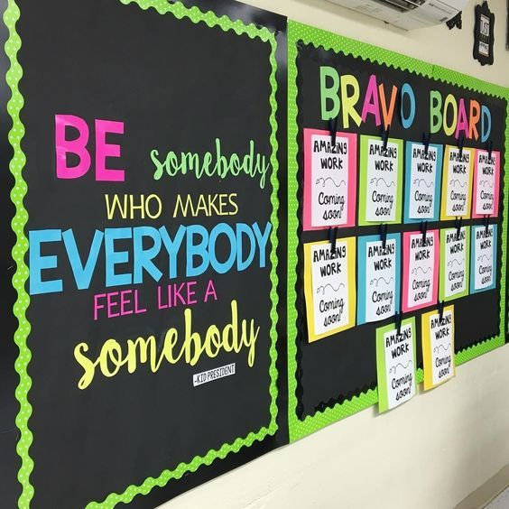 More adorable polka dots from emilythirdandgoal on her iamkidpresident quote bulletinboard do you use kid president in your classroom also lime scalloped border trim for my future rh pinterest