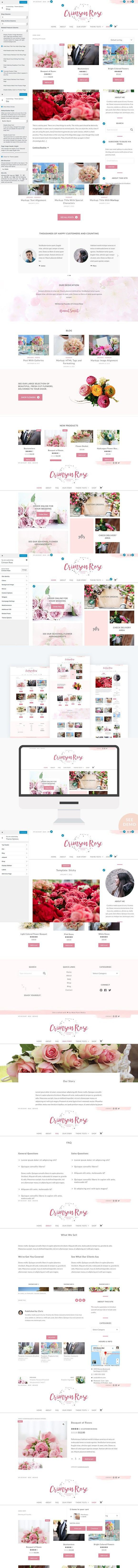 Crimson Rose Wordpress Theme Ecommercetheme Shoptheme Theme Ecommerce Themes Wordpress Theme