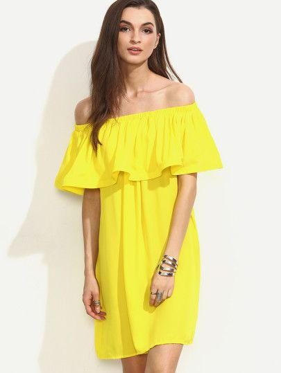 Robe jaune unie