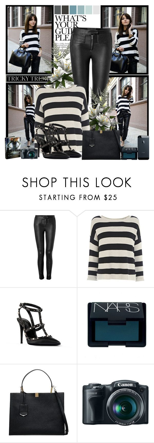 """Get The Look:My Book In Seville Lovely Pepa"" by antemore-765 ❤ liked on Polyvore featuring A.L.C., Warehouse, Valentino, NARS Cosmetics and Balenciaga"