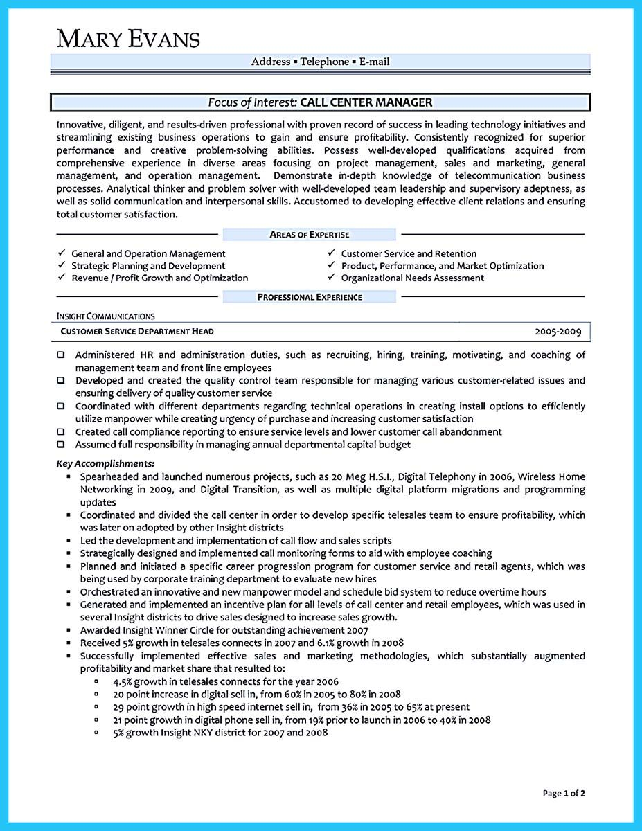 Call Center Supervisor Resume Adorable Nice Cool Information And Facts For Your Best Call Center Resume .