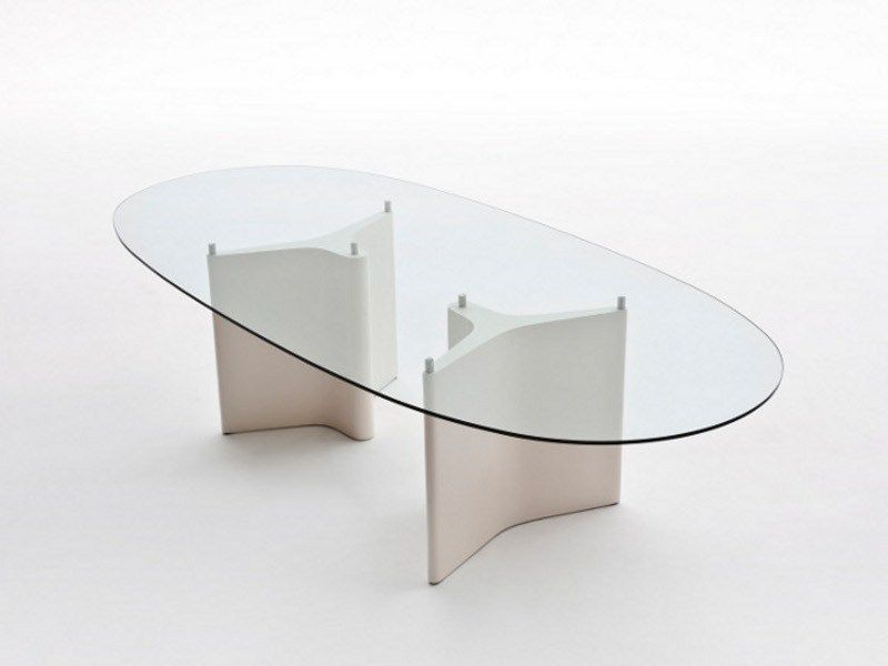 Tavolo Ovale Design : Tavolo ovale in vetro tee by segis design bartoli design tavolo