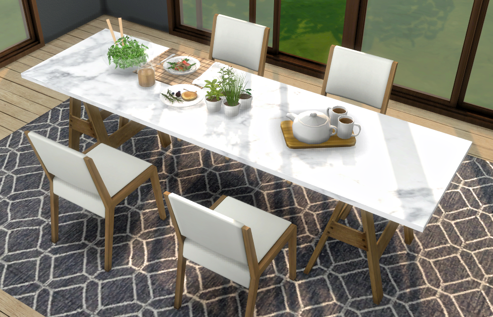 Marble Table Top Recolour Bluebellflora シムズ 家具 建築