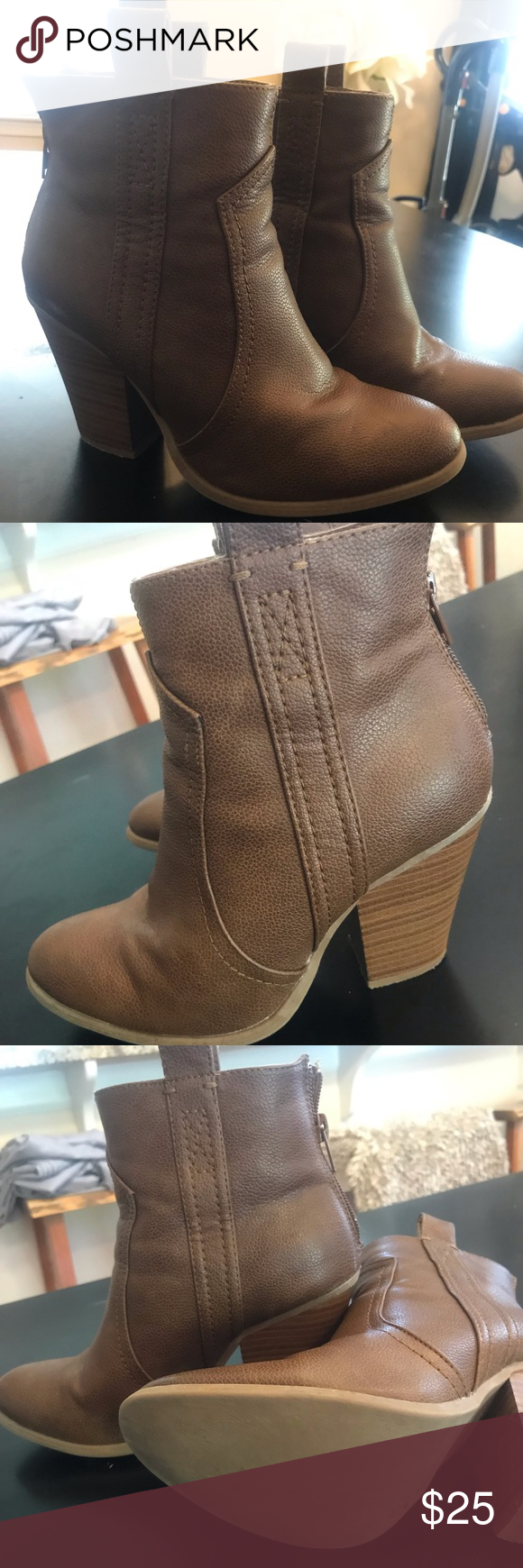 Booties Just Fab booties  Worn three times.  Cute with skinny jeans or dress/shorts! JustFab Shoes Ankle Boots & Booties #skinnyjeansandankleboots Booties Just Fab booties  Worn three times.  Cute with skinny jeans or dress/shorts! JustFab Shoes Ankle Boots & Booties #skinnyjeansandankleboots