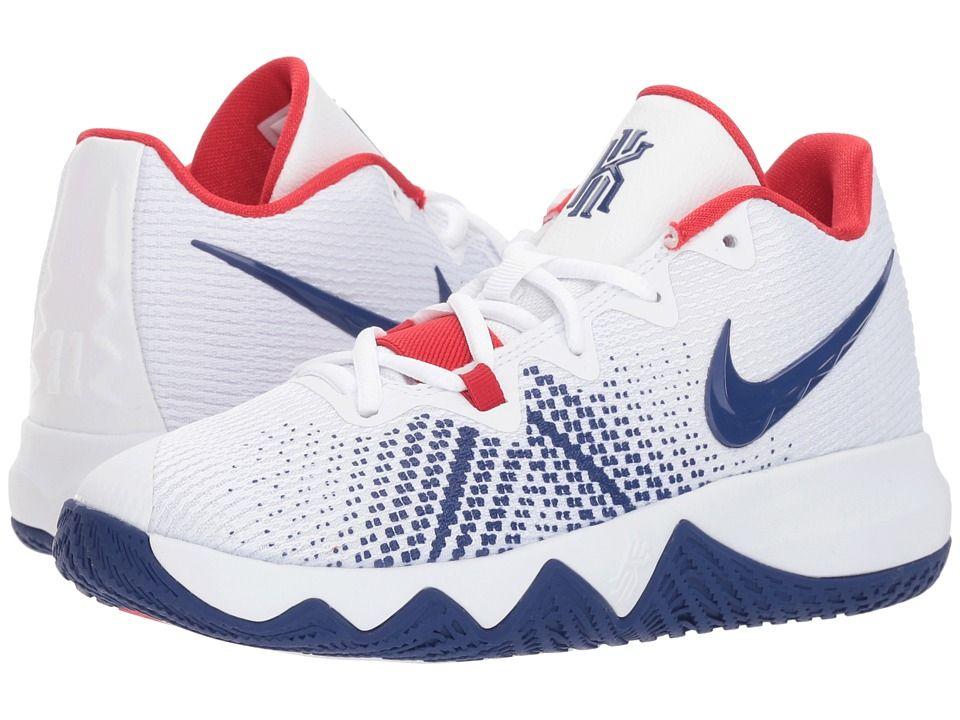 best website ec090 4fbd2 Nike Kids Kyrie Flytrap (Big Kid) Boys Shoes White Deep Royal  Blue University Red