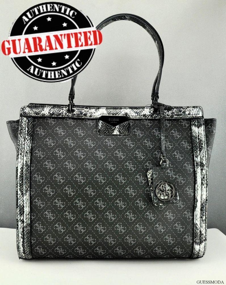 adf8732283a9 NEWEST! GUESS Luxury Handbag Ladies Taree Onyx Satchel Designer Bag Purse  USA  Guess  Satchel
