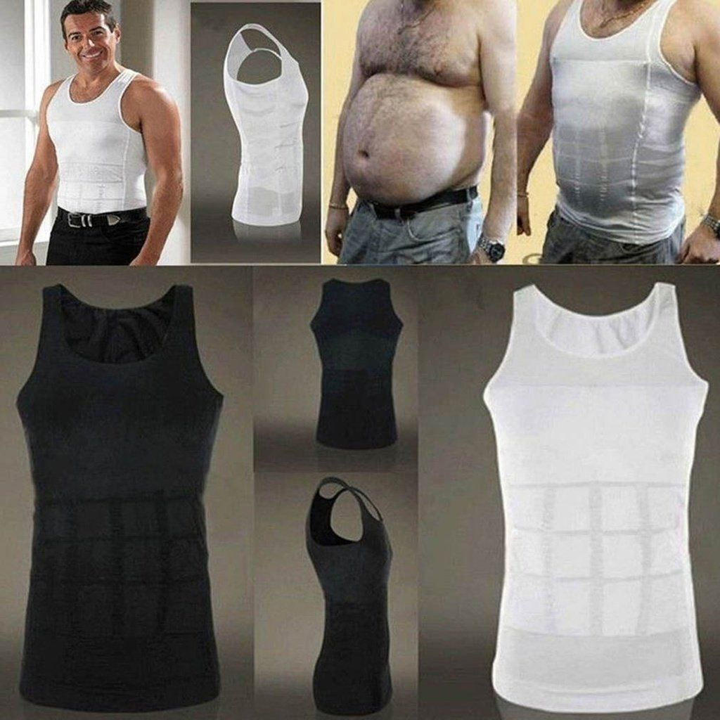 Men Slim Fit Tummy Shapewear Body Shaper Underwear T-shirt Top Posture Corrector