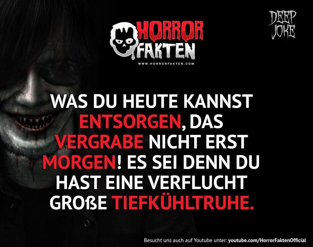 ❝Jeder hat Leichen im Keller❞ #horrorfakten
