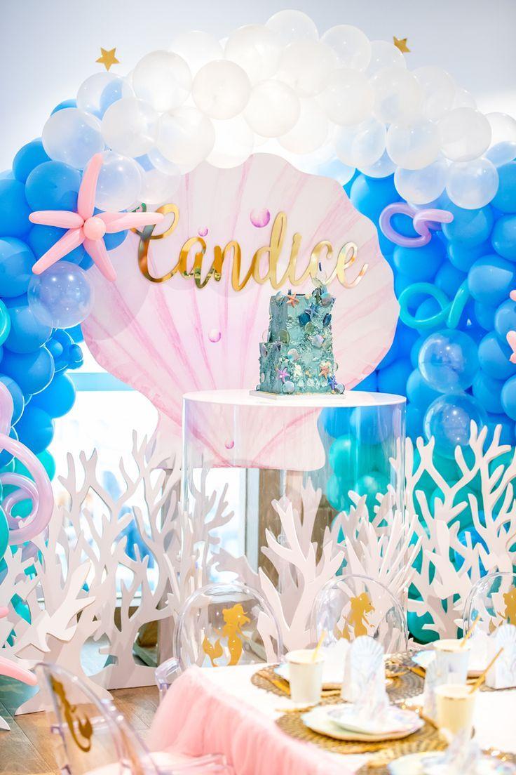 Mermaid Under the Sea Birthday Party Ideas Photo 1 of 29