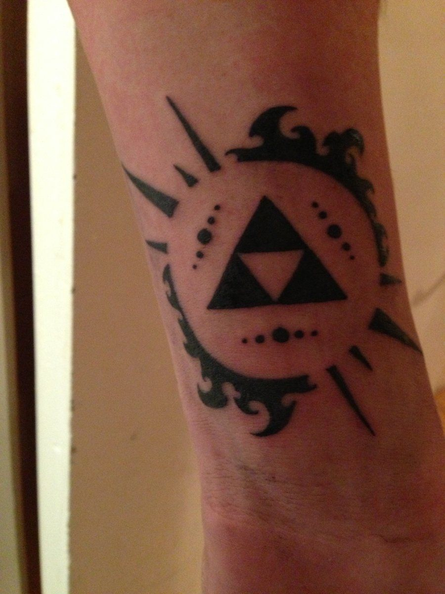 New tattoo the triforce from legend of zelda by for Triforce hand tattoo