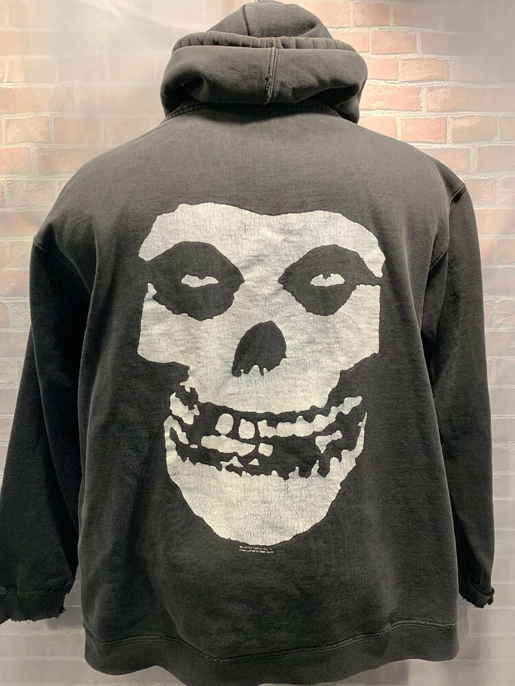 MISFITS Band Music Group DISTRESSED Hooded Jacket Men's