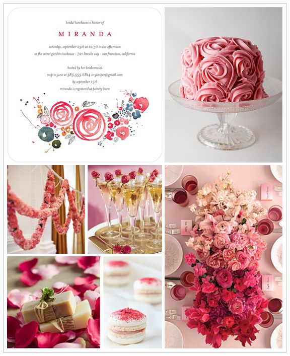 Rose Themed Bridal Shower Inspiration Board – Wedding Paper Divas Bridal Shower Invitations