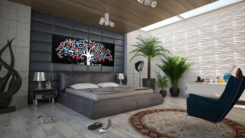 Cuadros modernos cuadros rbol vida cuadros negros cuadros paisajes cuadros para dormitorios - Lienzos para dormitorios ...