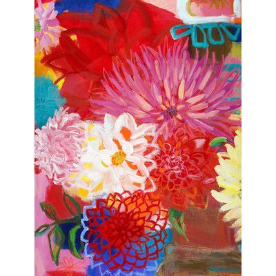 """Oopsy Daisy Colorful Botanical Canvas Art Size: 40"""" H x 30"""" W x 1.5"""" D"""
