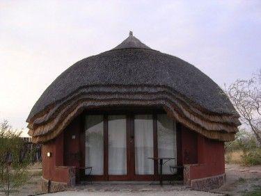 Modern Rondavale hut Botswana African Traditional huts