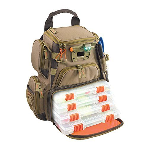 Wild River by CLC WT3503 Tackle Tek Recon Lighted Compact Backpack with Four PT3500 Trays -- You can get additional details at the image link.
