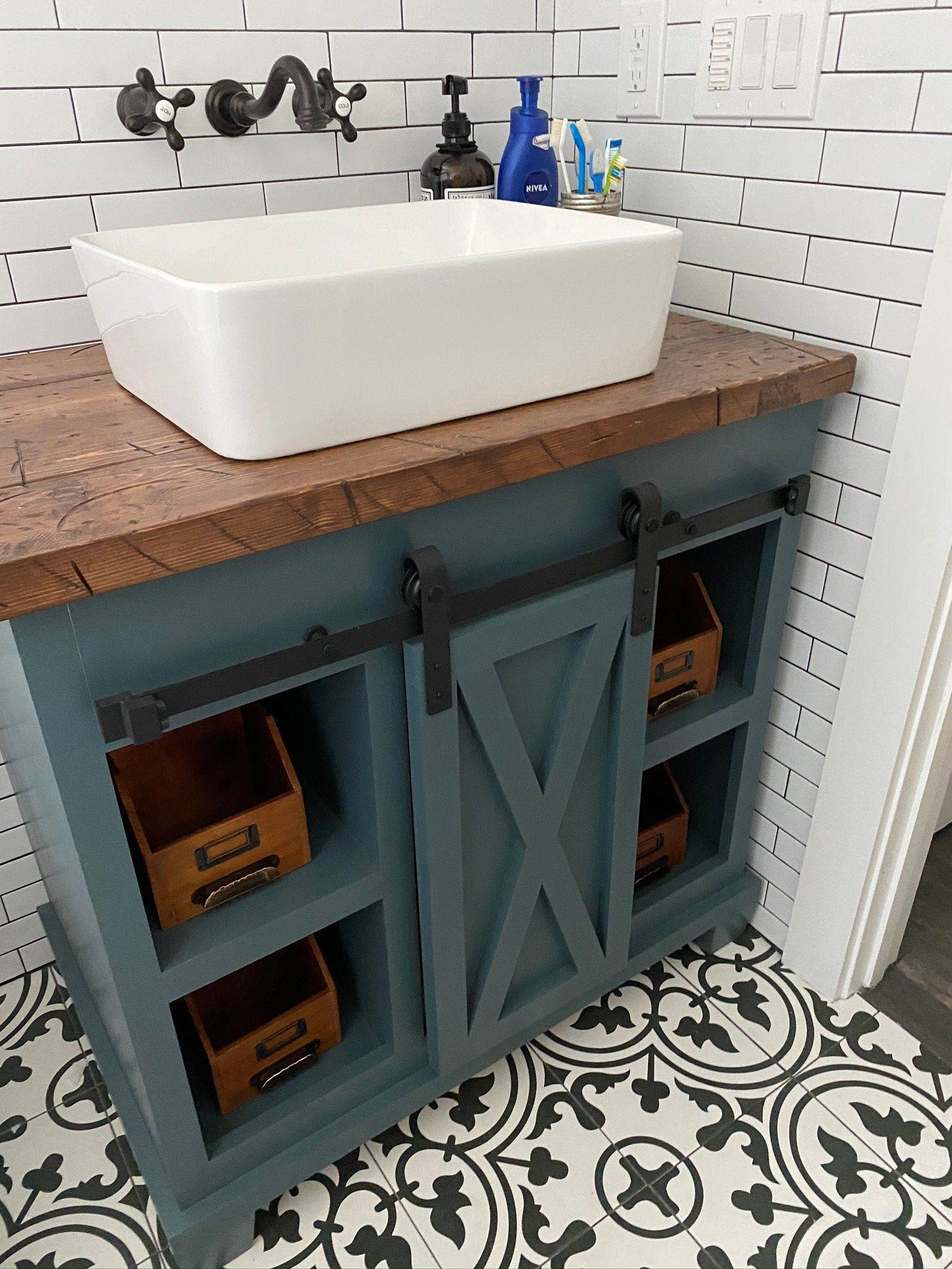 Barn Door Bathroom Vanity Free Shipping Etsy Furniture Giveaway Bathroom Vanity Vanity [ 2048 x 1536 Pixel ]