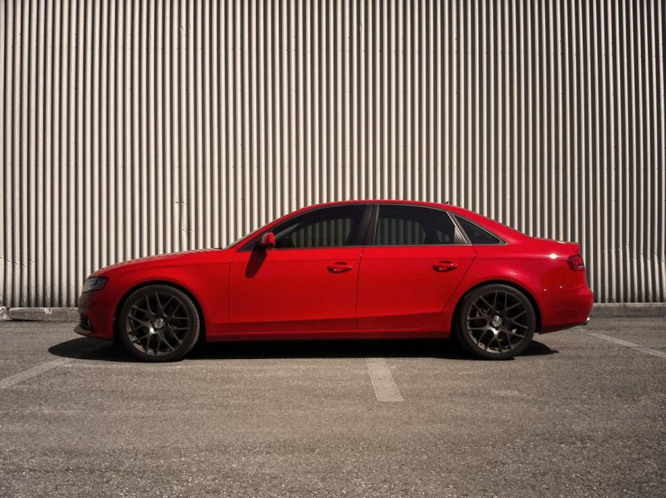 Lowered On H R Oe Sport Springs Audi A4 Riding Audi