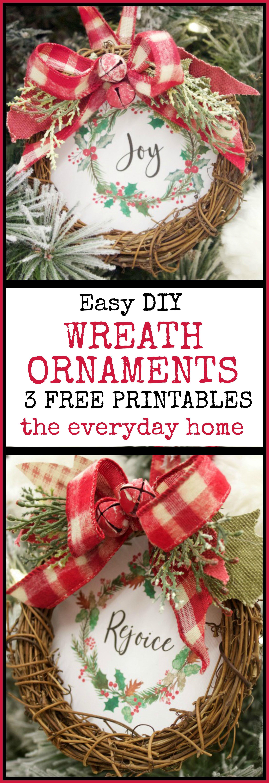 Easy DIY Christmas Wreath Ornament Easy christmas diy