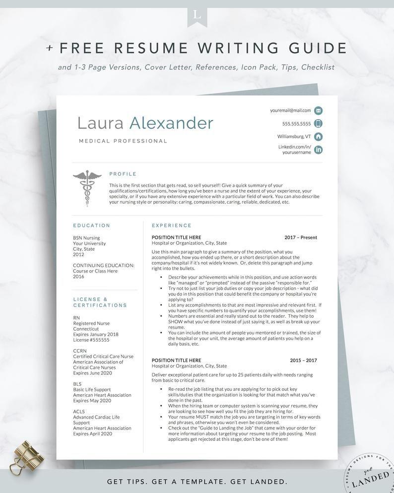 Nursing resume template for medical professionals nurse