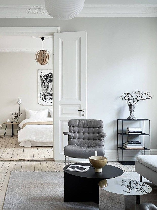 swedish apartment in white grey and tan these four walls blog also home tour decor inspiration pinterest bedroom rh