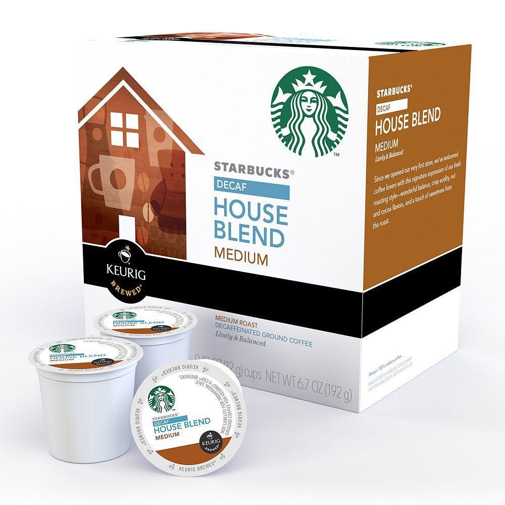 Keurig® KCup® Pod Starbucks House Blend Decaf Coffee 16