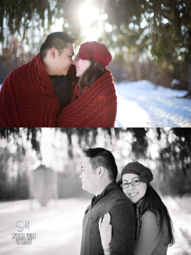 Winter Engagement Session - Samantha Murray Photography