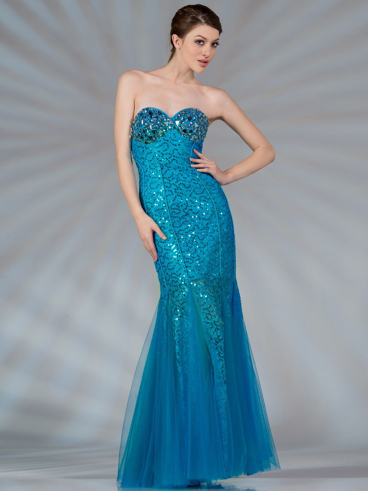 Bluemermaidpromdresses jc blue mermaid jeweled and sequin